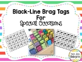Black-Line Brag Tags for Special Occasions