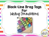 Black-Line Brag Tags for Writing Foundations
