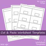 Black Line Cut and Paste Worksheet Template Clipart Images