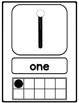 Black Line Master Number Signs {with counting points}
