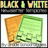 Black and White Newsletter Templates Editable