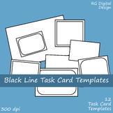 Black Line Task Card Templates Clip Art Images for TPT Sellers