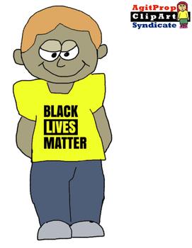Black Lives Matter Clipart of Concerned Children