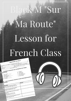 Black M-Sur ma Route (song analysis/worksheet for French class) by ...