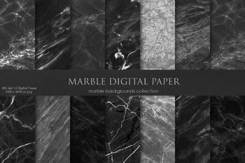 Black Marble Digital Paper