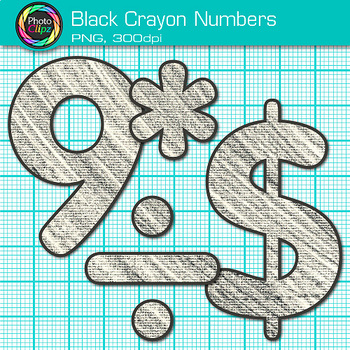 Black Math Numbers Clip Art {Great for Classroom Decor & Resources}