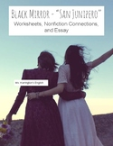 Black Mirror San Junipero Worksheets & Essay (Text Connect