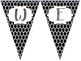 Black Moroccan Welcome Pennant Signs - Pre-K to 5th