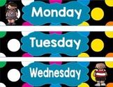 Black Multi-Color Dots Tub Labels