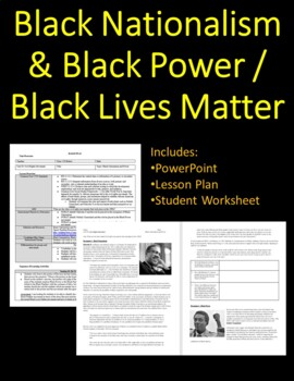 Black Nationalism and Black Power Lesson