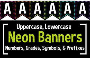 Black & Neon Complete Banner Set: 500+ Pages!