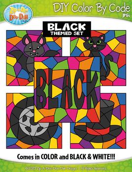 Black Objects Color By Code Clipart {Zip-A-Dee-Doo-Dah Designs}