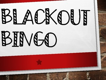Black Out Bingo