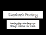 Black Out Poetry PowerPoint