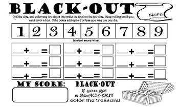 Black-Out (shut the box game on paper)