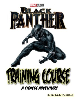 Black Panther Fitness Training Adventure PE Activity with Student Choice!