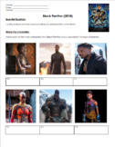 Black Panther Movie Guide Questions in English. Packet No Prep!