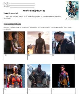 Black Panther Movie Guide in SPANISH | Preguntas 100% español