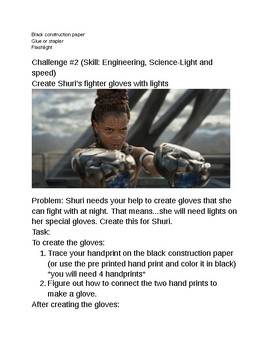 Black Panther Movie STEM Challenges