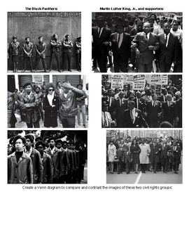 Black Panther Party Images, Reading, and Guiding Questions