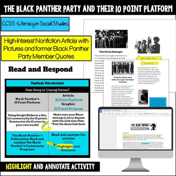 Civil Rights Hyperdoc: Stokely Carmichael and The Black Panther Party