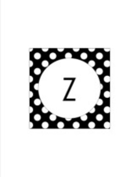 Classroom Decor Black Pastel Polka Dot Collection
