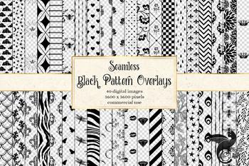 Black Pattern Overlays
