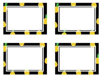Black Pineapple Printables