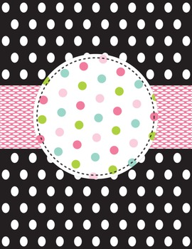 Black, Pink, Green & Blue Planner/Binder