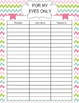 Black, Pink, Green & Blue Planner/Binder