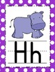 Black, Pink & Purple Polka Dot Alphabet Posters