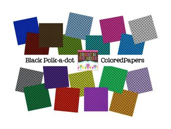Black Polk-a-dot Colored Papers