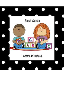 Black Polka Dot Center Labels