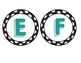 Black Polka Dot Circles with Teal Letters