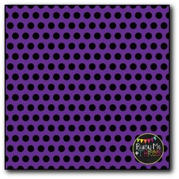 Black Polka Dot Mix No. 2 Digital Papers {Commercial Use Digital Graphics}