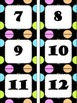 Black Polka Dot Number Cards