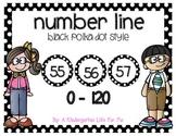 Black Polka Dot Number Line