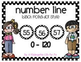 Black Polka Dot Number Line