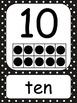 Black Polka Dot Number Wall Cards