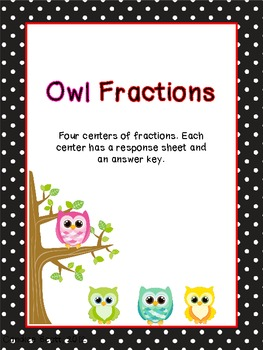 Black Polka Dot Owl Fractions Center