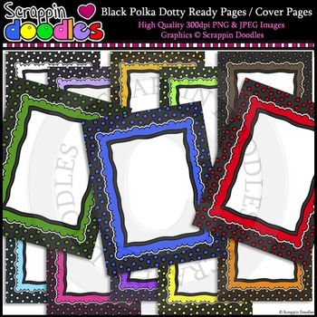 "Black Polka Dotty 8-1/2""x11"" Ready Pages"