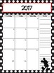 Black Polkadot Mickey Inspired Monthly and Weekly Calendar Refill 2017-2018