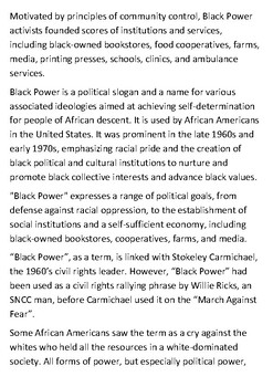 Black Power Handout
