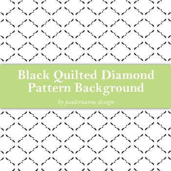 Black Quilted Diamond Pattern Background