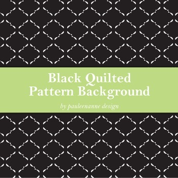 Black Quilted Pattern Background