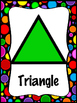 Black Rainbow Polka Dot Colors and Shapes Poster