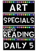 Black Rainbow Subject Labels