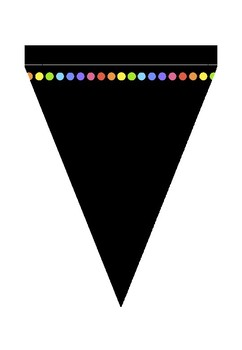 Black Rainbow dot Bunting