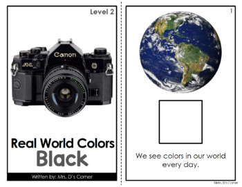 Black - Real Life Colors Adapted Book Bundle | Real Picture Color Books