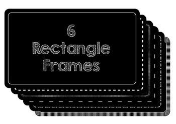 Black Rectangle Frame Set